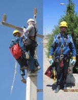 به کارگیری تجهیزات نوین نجات از ارتفاع در شرکت توزیع نیروی برق استان چهارمحال وبختیاری